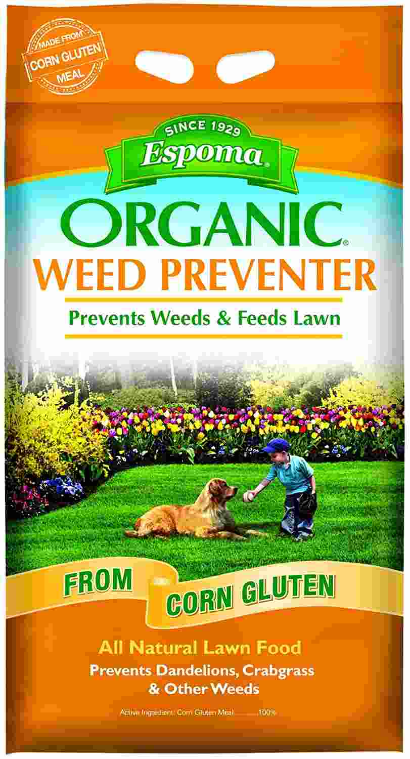 Espoma Weed Preventer Plus Lawn Food, Natural Lawn Food, Prevents Dandelions, Crabgrass, & Other Weeds