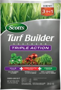 Scotts Turf Builder Southern Triple Action - Kills Dollarweed and Clover, Prevents and Kills Fire Ants, Feeds and Strengthens Lawns