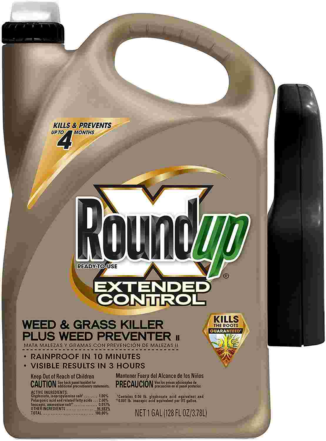 Roundup 5004010 Ready-To-Use Extended Control Weed & Grass Killer Plus Weed Preventer