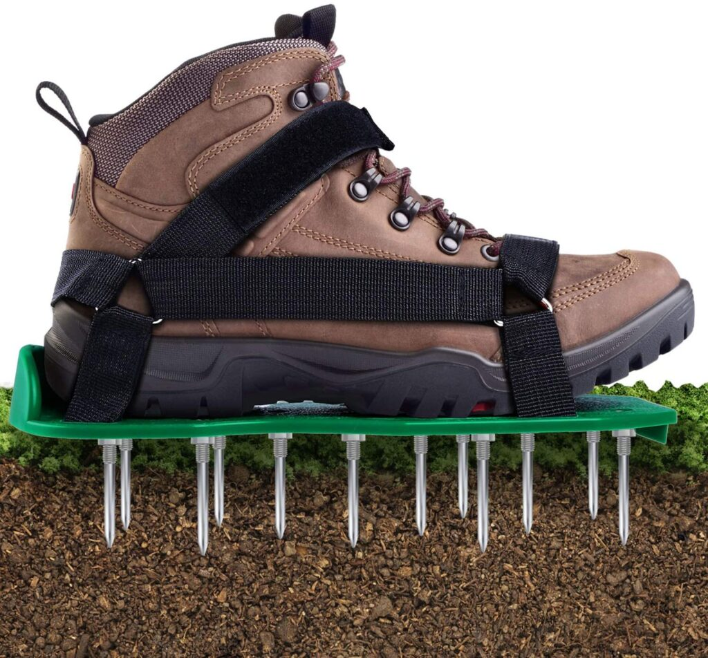 Lawn Aerator Shoes with Hook & Loop Straps